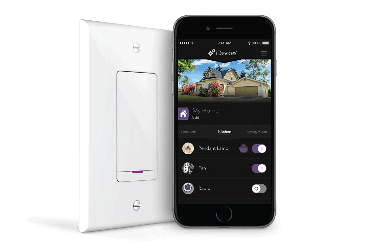 smartphone lighting control. introduces instant switch™, a remote wireless, bluetooth® smart wall switch that allows users to designate additional points of power control anywhere smartphone lighting